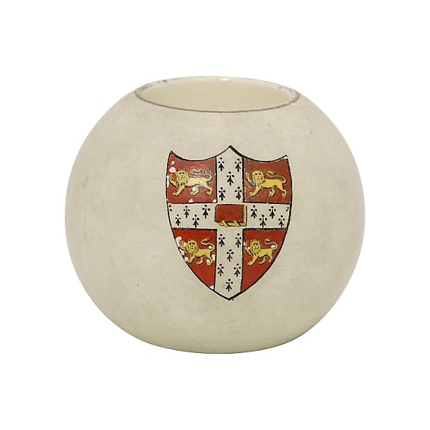 Antique Hand-Painted Cambridge University Match Holder For Sale