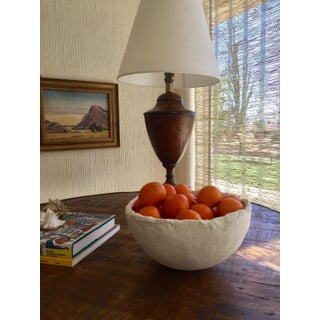 Modern White Raw Plaster Decorative Round Bowl Preview
