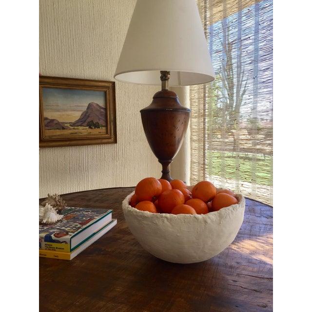 Mid-Century Modern Modern White Raw Plaster Decorative Round Bowl For Sale - Image 3 of 8