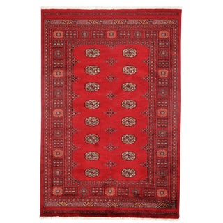 "Pasargad DC Pak Bokhara Hand-Knotted Rug - 4'6"" × 6'9"" For Sale"