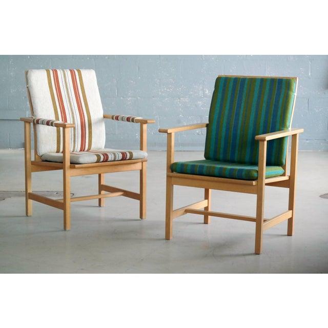 Pair of Børge Mogensen Model 2257, Oak Lounge Chair for Fredericia Stolefabrik For Sale - Image 10 of 10