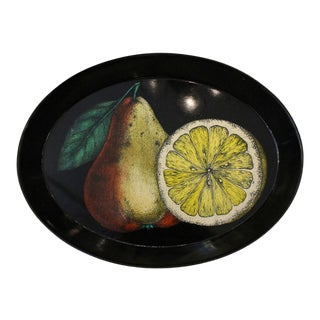 Piero Fornasetti Oval Tray, Italy, 1950s For Sale