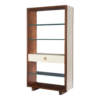 Century Furniture Canvas Tall Open Bookcase, Ivory For Sale