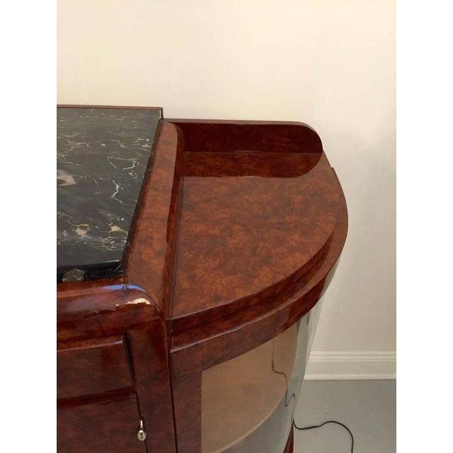 French Art Deco Buffet with Portoro Marble Top For Sale In New York - Image 6 of 9