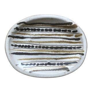 Vintage MCM Studio Pottery Trinket Dish For Sale