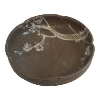 Vintage Arts & Crafts Round Pottery Bowl For Sale