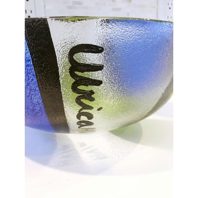 Ulrica Hydman Vallien Kosta Boda Glass Bowl - Image 4 of 6