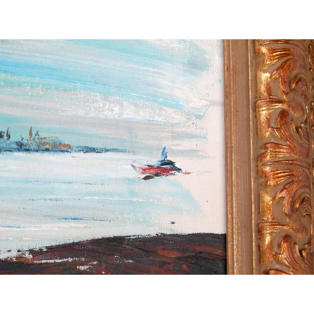 """1990s Rod Rodgers Painting, """"East Side Skyline"""" For Sale - Image 5 of 8"""
