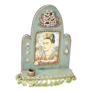 Handmade Mexican Folk Art Frida Kahlo Altar For Sale