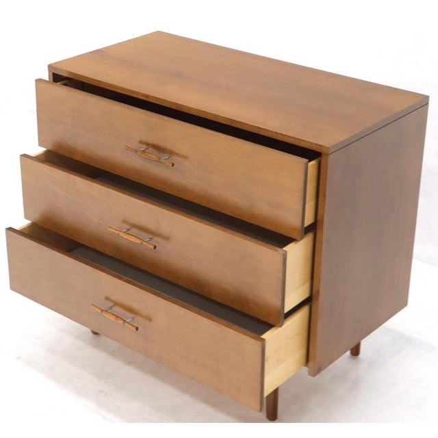 Paul McCobb Planner Group Solid Birch 3-Drawer Bachelor Chest Dresser For Sale - Image 11 of 12