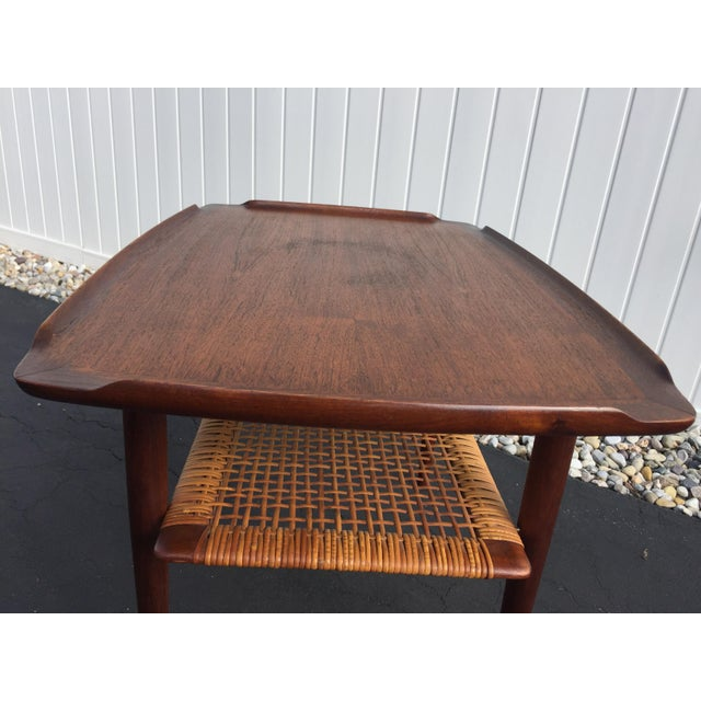 Poul Jensen for Selig Mid-Century Danish End Table For Sale - Image 9 of 11