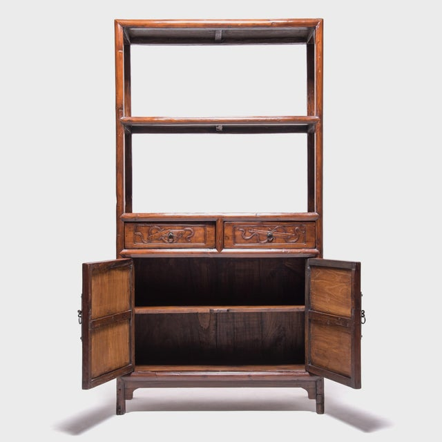 Collecting was a popular pastime for well-to-do Ming and Qing dynasty gentleman, and a shelf like this one would have been...