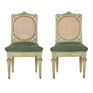Circa 1800 Northern Italian Neoclassical Side Chairs - a Pair For Sale