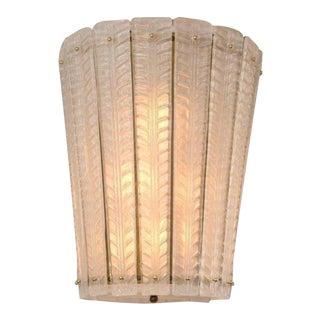 Modern Murano Blown White Tapered Lantern For Sale