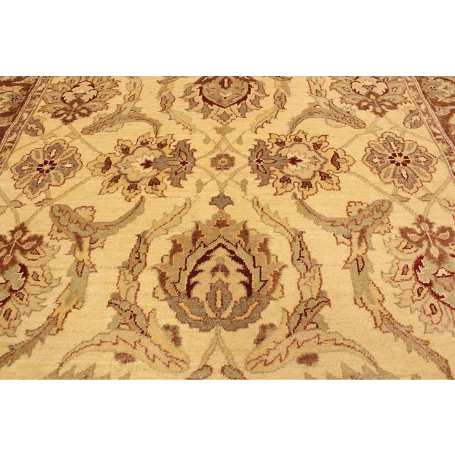 2010s Kafkaz Peshawar Keeley Ivory/Brown Hand-Knotted Rug - 5'0 X 7'0 For Sale - Image 5 of 8