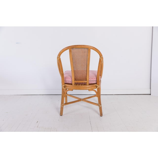 1960s Vintage McGuire Furniture Rattan Dining Chairs- Set of 6 For Sale - Image 9 of 13