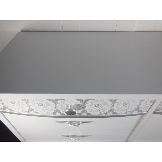 White Mid-Century Modern Dresser - Image 6 of 8