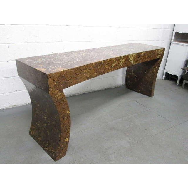 Enrique Garcel Lacquered Coconut Shell Console Table - Image 2 of 9