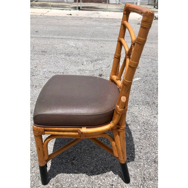 Bamboo & Leather Dining Chairs, S/12 For Sale - Image 10 of 11