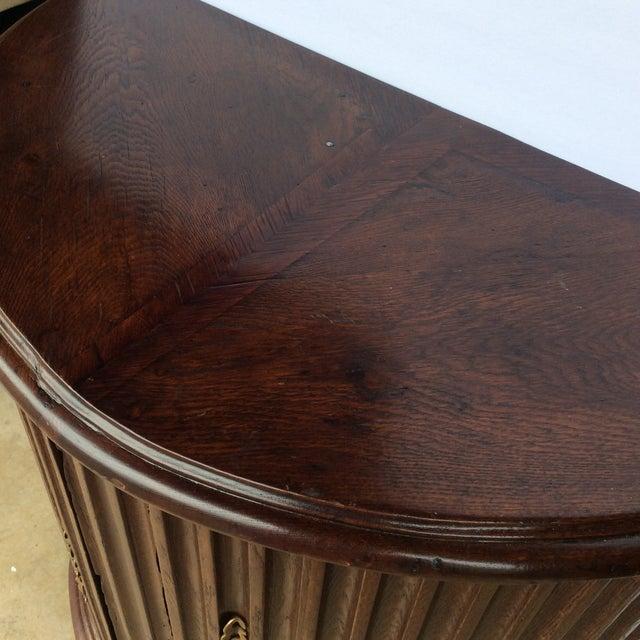 Rustic Primitive Demilune Cabinet For Sale - Image 10 of 10