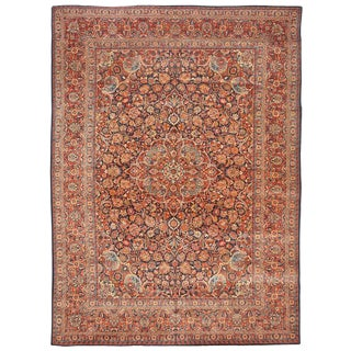 Extremely Fine Antique Kashan Carpet For Sale