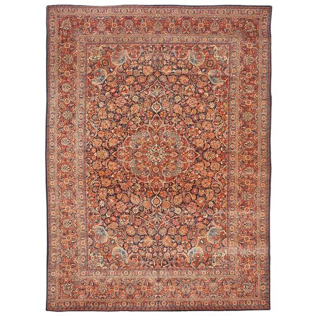 Extremely Fine Antique Kashan Carpet For Sale