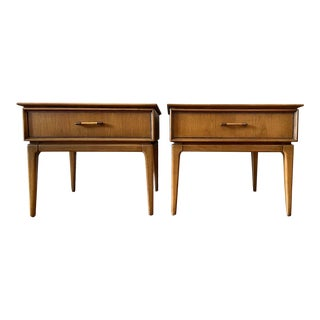 Mid Century End Tables W/ Single Drawer 1950s - a Pair For Sale