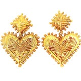 Image of Christian Lacroix Large Heart Motif Drop Earrings For Sale