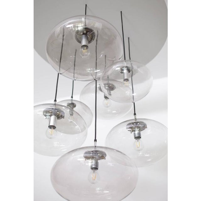 Extraordinary Huge Glass Globe Cascade Chandelier by Glashütte Limburg For Sale - Image 4 of 6