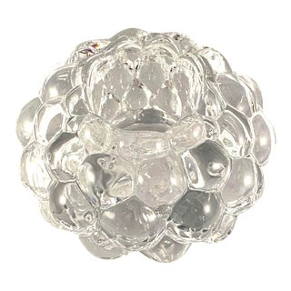 1990s Orrefors Crystal Raspberry Votive Candle Holder For Sale