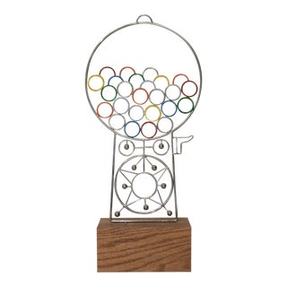 Joseph A. Burlini Kinetic Gumball Machine Sculpture C.1970s For Sale