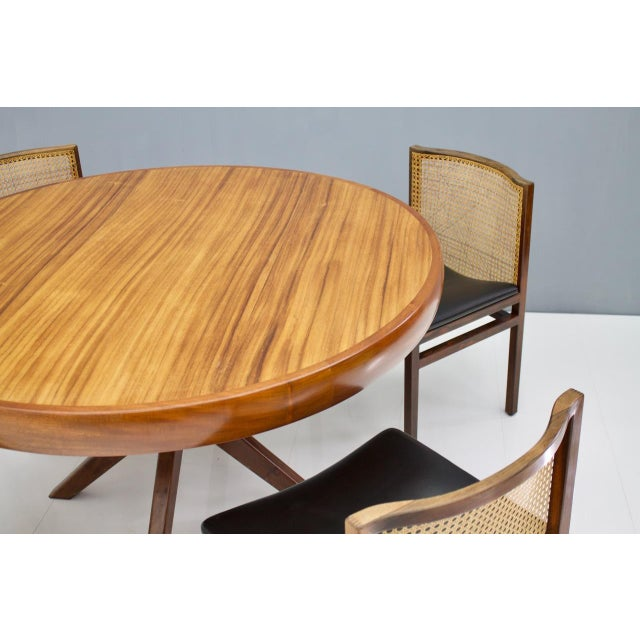 Mid-Century Modern Round Dining Table From Brazil, 1960s For Sale - Image 3 of 5
