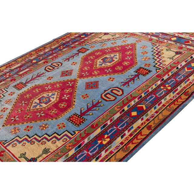 Mid-20th Century Vintage Khotan Rug 6' 10'' X 9' 7''. For Sale - Image 12 of 13