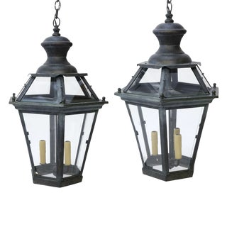 Two French Hexagonal Lanterns For Sale