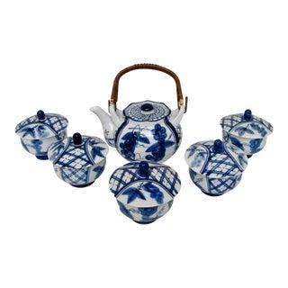 Japanese Porcelain Tea Set - Service for 5 For Sale