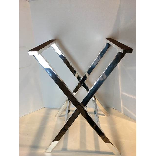 1970s Mid-Century Modern St James of Brazil Silverplate Tray Stand For Sale - Image 9 of 12