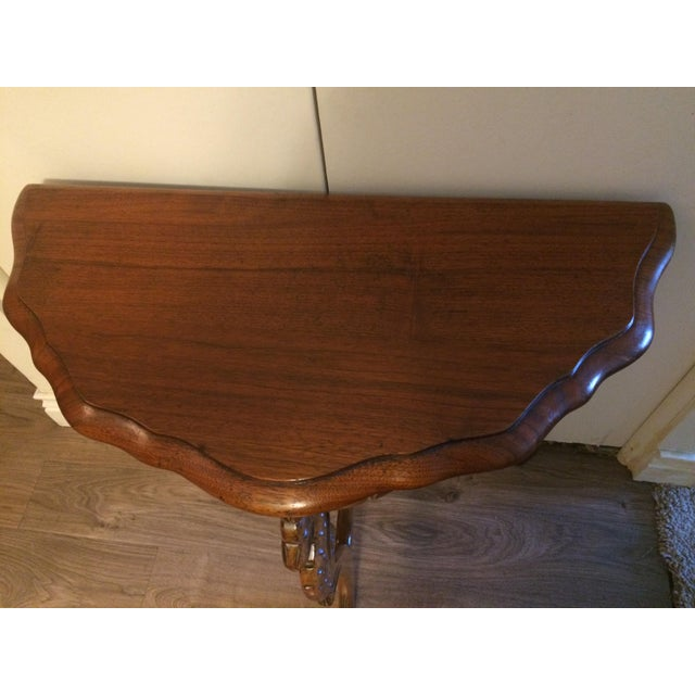 Americana Demilune Side Table For Sale - Image 3 of 4