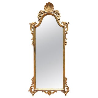 Early 20th Century Italian Carved Giltwood Mirror For Sale