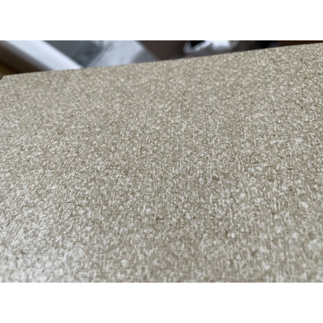Grey Textile Finish Wallcovering For Sale - Image 4 of 4