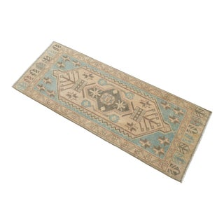 Hand Knotted Door Mat, Entryway Rug, Bath Mat, Kitchen Decor, Small Rug, Turkish Rug - 1′8″ × 4′5″ For Sale