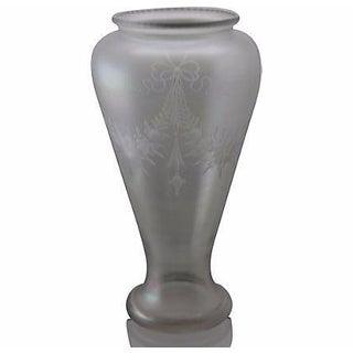 Steuben/Hawkes Verre De Soie Opalescent Cut Decorated Vase For Sale