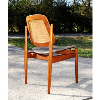 Arne Vodder Cane & Teak Danish Desk Chair Preview