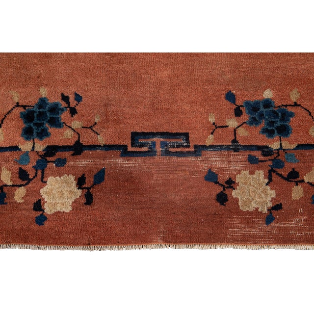Early 20th Century Early 20th Century Antique Art Deco Chinese Wool Rug 9 X 15 For Sale - Image 5 of 13