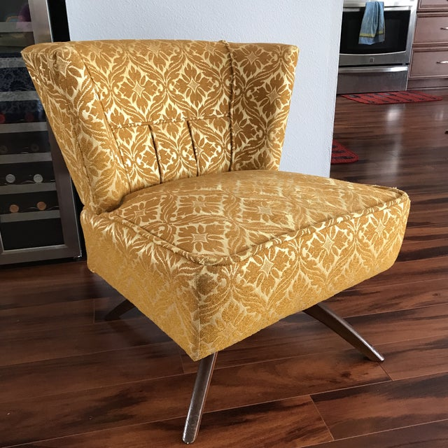 Mid-Century Modern 1960s Vintage Vanity Swivel Chair For Sale - Image 3 of 8