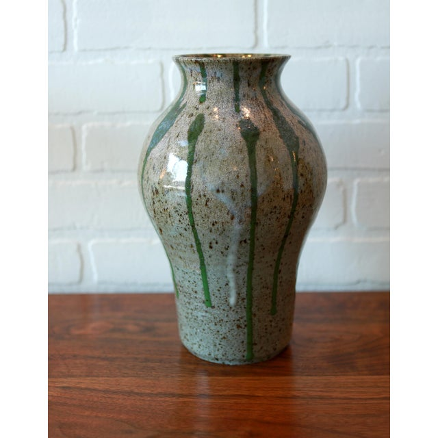 Boho Chic Signed Multicolored Studio Pottery Ceramic Vessel For Sale - Image 3 of 7