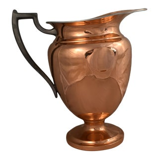 Rogers Silver Company Copper Pitcher For Sale