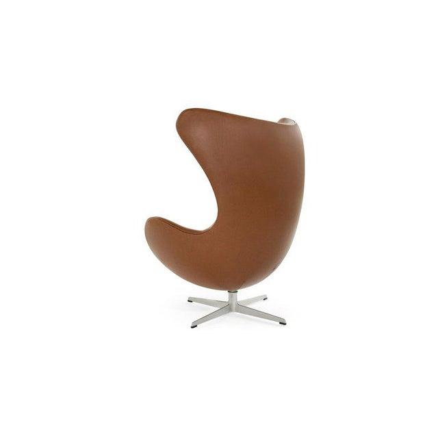 Arne Jacobsen for Fritz Hansen Egg Chair and Footstool, Denmark, 1966 For Sale - Image 9 of 13