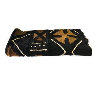 "Superb Bogolan Mali Mud Cloth Textile 38"" by 64"" For Sale"