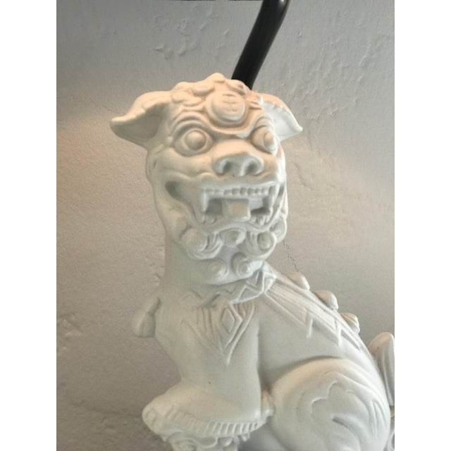 Black Custom Made Foo Dog Lamps With Jade Finials and Black Shades - a Pair For Sale - Image 8 of 11