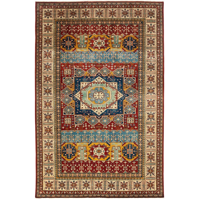 Traditional Hand Knotted Area Rug - 6′10″ × 10′8″ For Sale